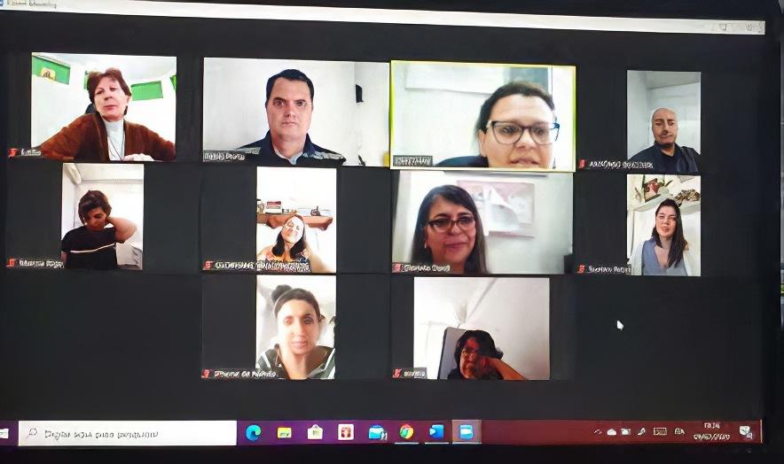 Videoconferência (A Ital-Uil do Brasil em vídeo-reunião)
