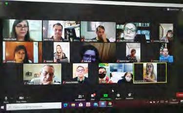 Os 'Patronatos' italianos no Brasil reunidos em vídeo-conferência.